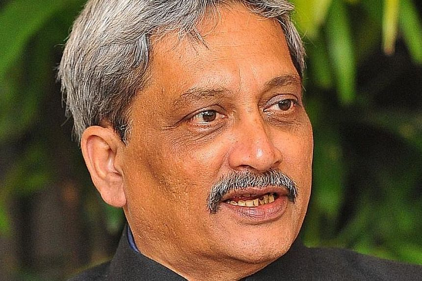 Mr Parrikar (above) and Dr Ng met at the inaugural Singapore-India Defence Ministers' Dialogue yesterday.