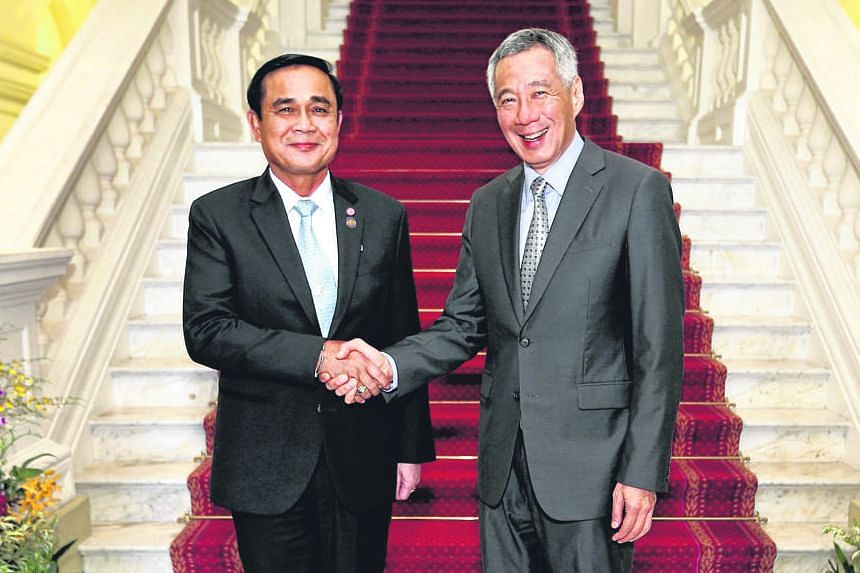 Mr Prayut and Mr Lee met at the Istana yesterday. They reaffirmed longstanding ties between their nations and exchanged views on evolving regional security challenges.