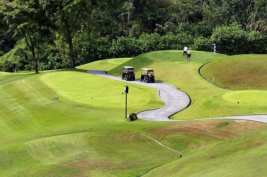 Membership price at Singapore Island Country Club (above) has fallen to about $175,000 this year, from $200,000 in 2014.