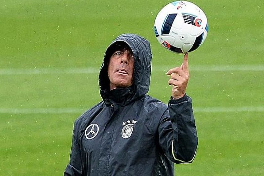 From left: When it rains, it pours for Germany coach Joachim Low. He lost key midfielders Ilkay Gundogan and Marco Reus to injury. Spain coach Vincente del Bosque is blessed with options in the centre of the park, but is light up front. France coach