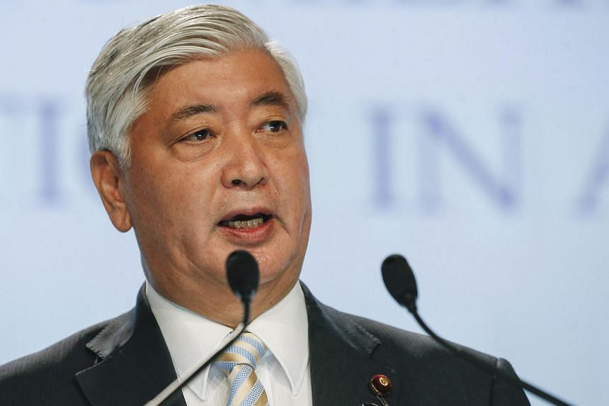 Japanese defence chief Gen Nakatani speaking in Singapore on Saturday (June 4).