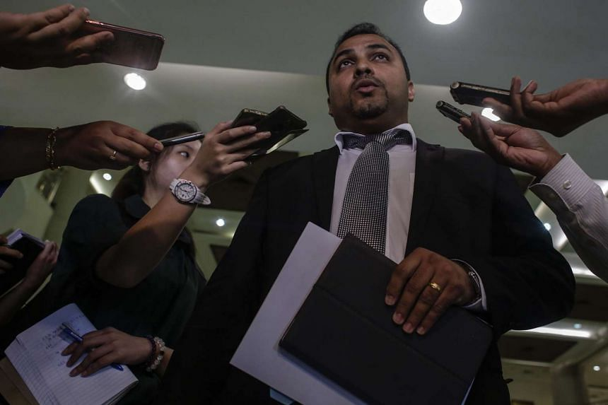 Malaysian lawyer Balan Nair, representing families of the ill-fated MH17 crew members, speaks prior to filing the lawsuit at the Kuala Lumpur Courts Complex on June 2, 2016.