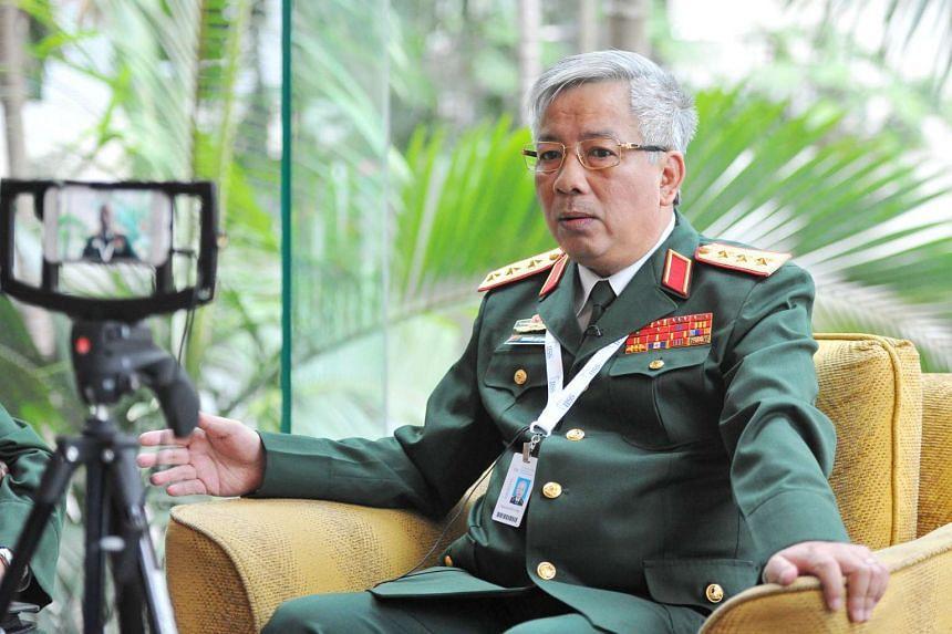 Vietnam's Deputy Defence Minister Nguyen Chi Vinh, at the Shangri-La Hotel on June 4, 2016.