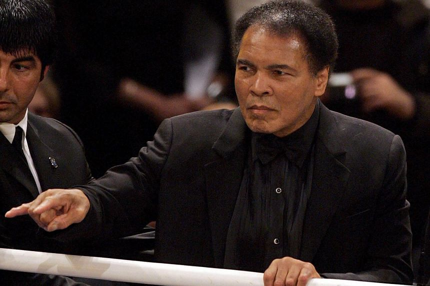Boxing legend Muhammad Ali in the ring after the World Championship super-middleweight fight between his daughter, Laila, and Asa Sandell from Sweden, in Berlin, on Dec 17, 2005.