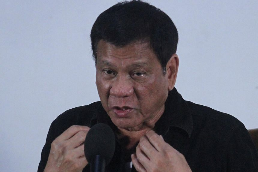Philippine President-elect Rodrigo Duterte speaking at a news conference in Davao city on June 2.