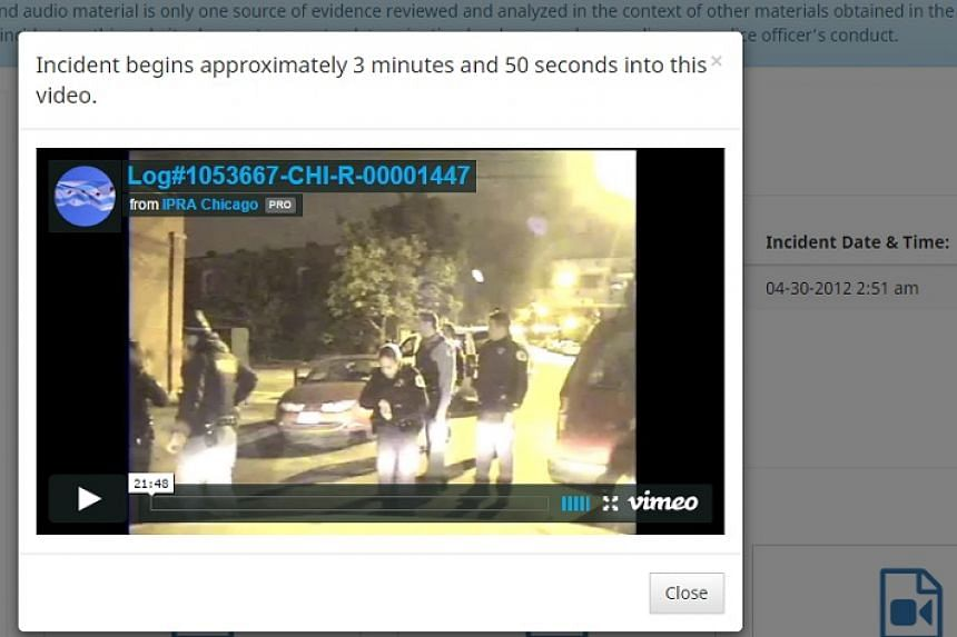A screenshot from the IPRA website where the video trove has been posted.