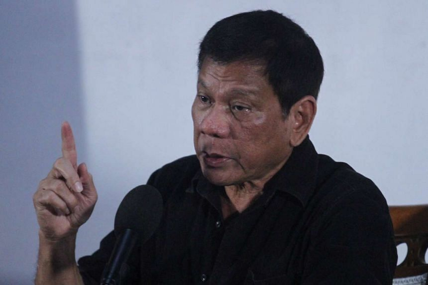 Philippine President-elect Rodrigo Duterte speaks during a news conference in Davao city on June 2, 2016.