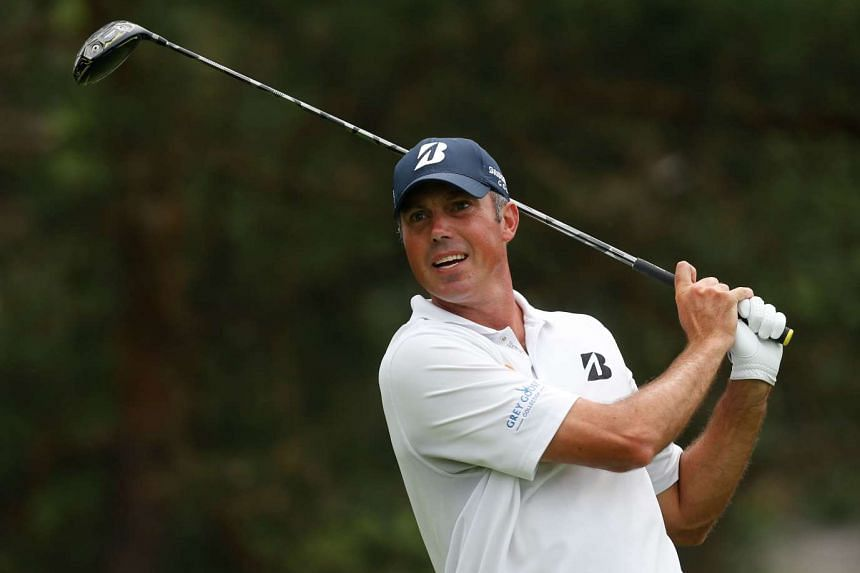 Matt Kuchar watches his tee shot on the second hole during the third round of The Memorial Tournament on June 4, 2016 in Dublin, Ohio.