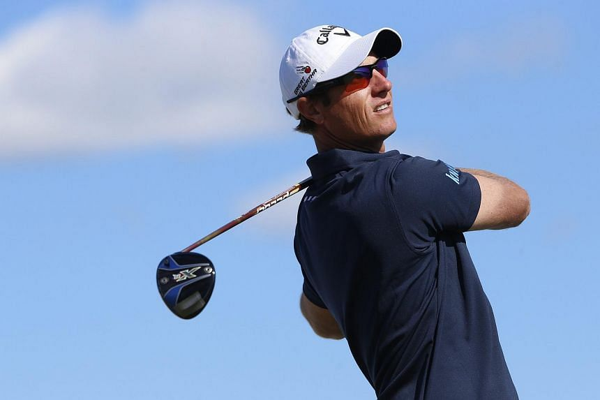 Belgium's Nicolas Colsaerts in action during the third round of the Nordea Masters golf tournament at Bro Hof golf club in Stockholm, Sweden, on June 4.