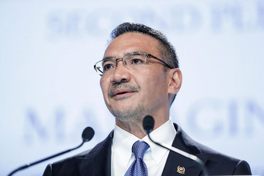 Malaysia's defence minister Hishammuddin Hussein speaks during the IISS Shangri-La Dialogue Asia Security Summit on June 4.