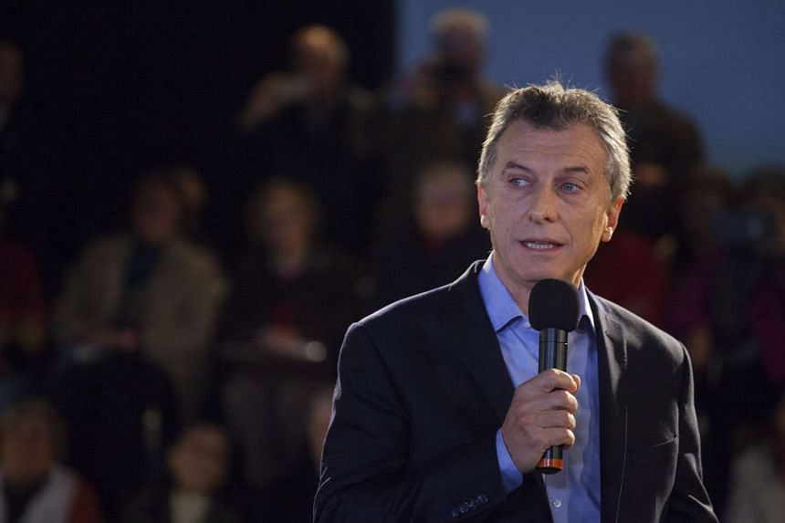 Macri speaking at an event in Buenos Aires on Friday, May 27, 2016.