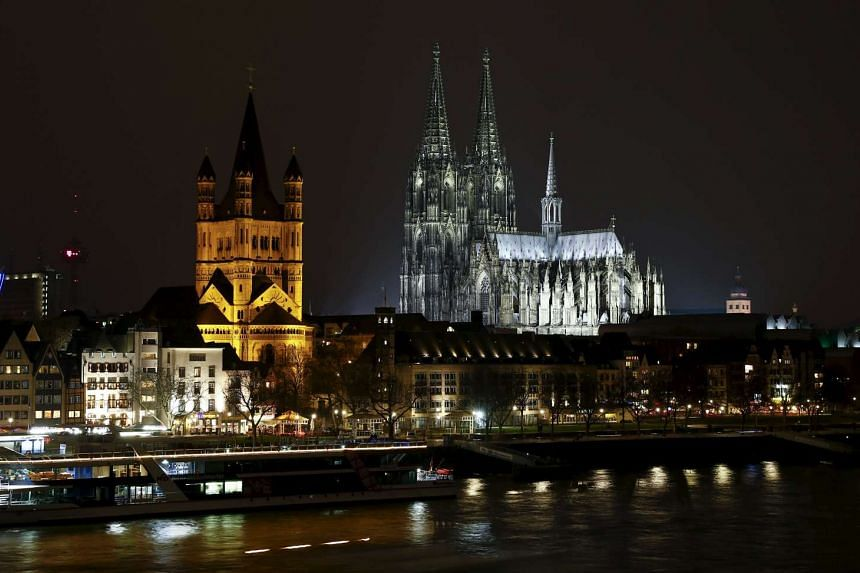 The Cologne Cathedral is pictured on March 19, 2016.