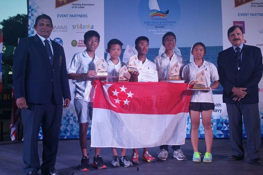 The young national sailors came in second in the team racing event at the Asian Optimist Championship on Sunday (June 5).
