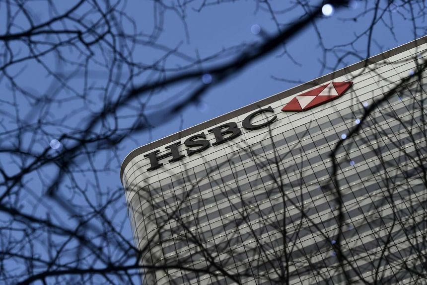 The HSBC headquarters in the Canary Wharf financial district in London, Britain, on Feb 15, 2016.