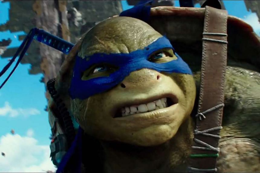 Movie still from Teenage Mutant Ninja Turtles: Out of the Shadows from Paramount Pictures, Nickelodeon Movies and Platinum Dunes.