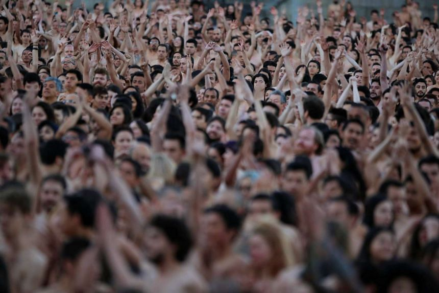 Spencer tunick naked people very