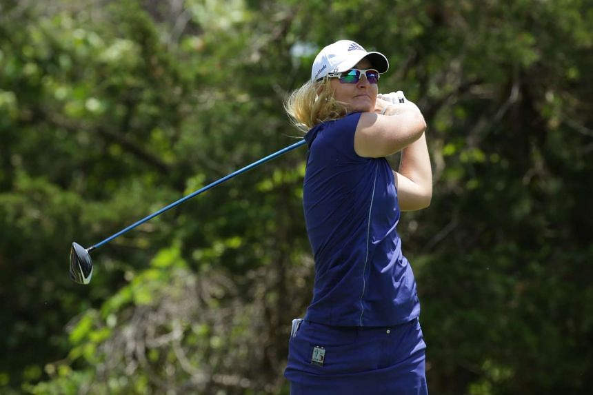 Anna Nordqvist of Sweden hits her tee shot on the 16th hole during the final round of the ShopRite LPGA Classic presented by Acer on the Bay Course at the Stockton Seaview Hotel & Golf Club on June 5, 2016 in Galloway, New Jersey.