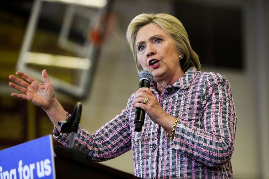 Hillary Clinton addresses supporters during a campaign rally at Sacramento City College on June 5, 2016.