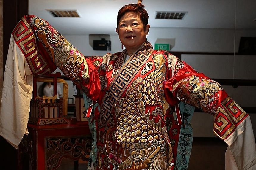 Madam Lim has devoted nearly 50 years to her art, and hopes to win new audiences both on and off stage, through teaching and attracting younger audiences. She will play the lead role in Dreams And Reality, to be presented by the Thau Yong troupe at t