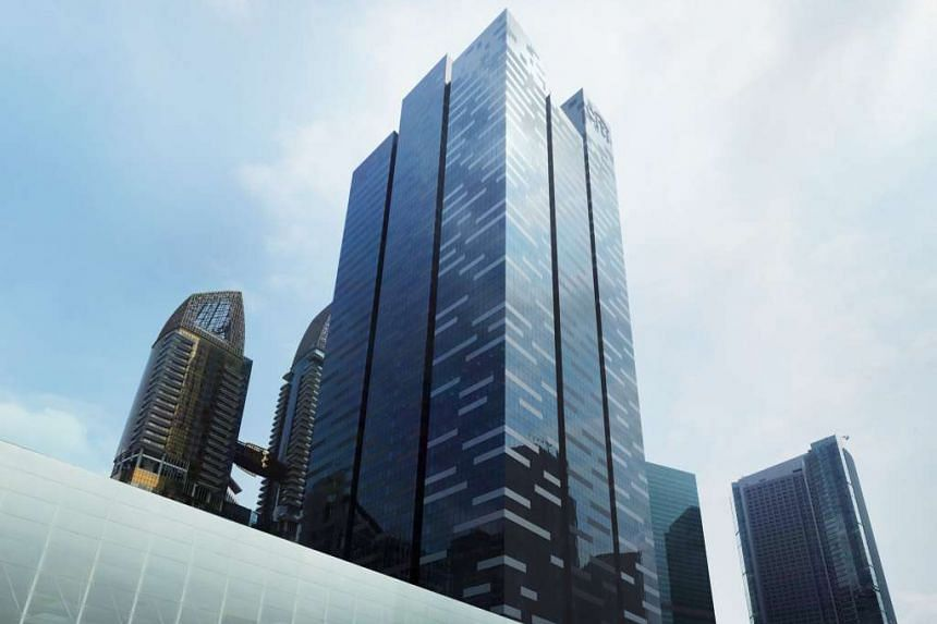 Asia Square Tower 1 in Singapore's Marina Bay business and financial district.