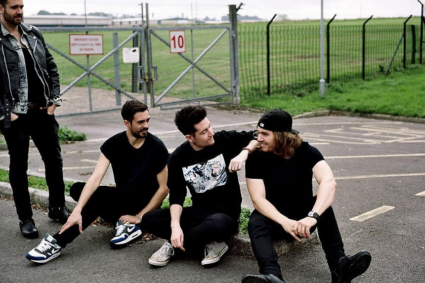 Members of British rock band Bastille (from left) William Farquarson, Kyle Simmons, Dan Smith and Chris Wood.