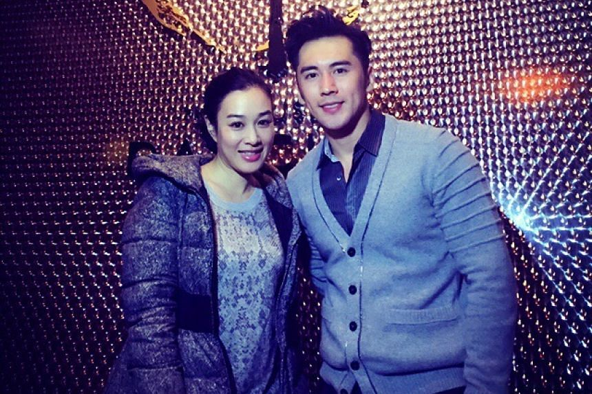 Canadian actress Christy Chung (left) has agreed to marry her dating show co-star Chinese actor Zhang Lunshuo.