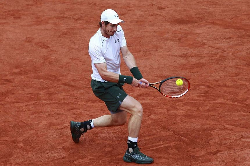 Andy Murray in action against Novak Djokovic during their men's single final's match at Roland Garros on Sunday.
