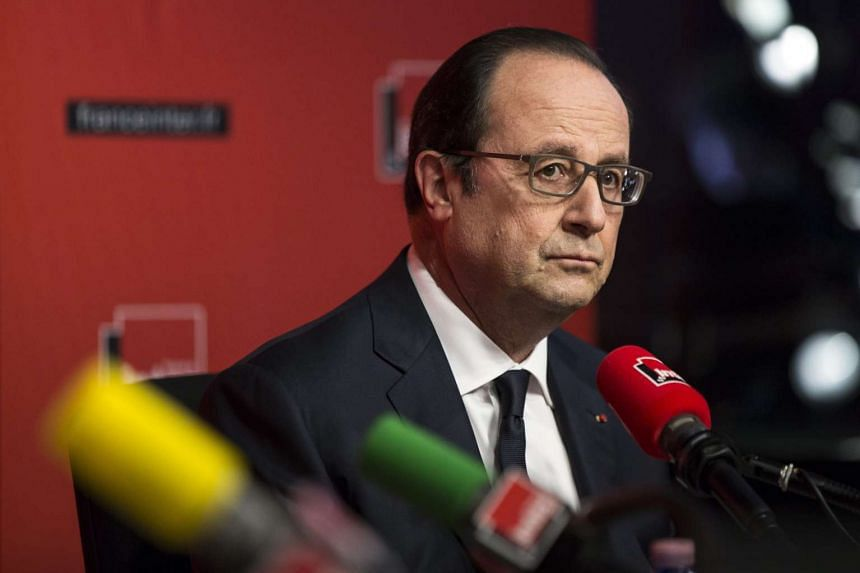French President Francois Hollande at France Inter Radio on the 'L'Oeil du Tigre' programme talks about Euro 2016.