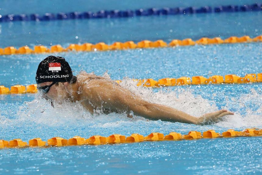 Joseph Schooling in action at the 2015 SEA Games in Singapore.