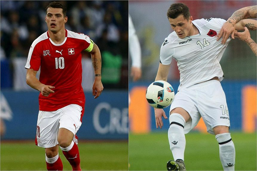 Granit Xhaka's 42nd Switzerland appearance will be the hardest - he is set to come up against his brother Taulant, who opted to represent Albania.