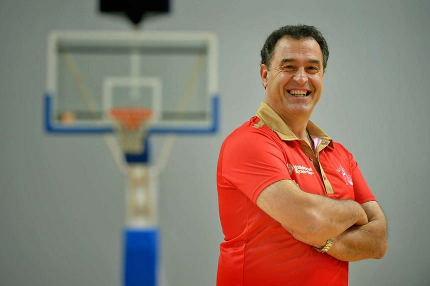New national basketball coach Frank Arsego, who joined on a two-year contract.