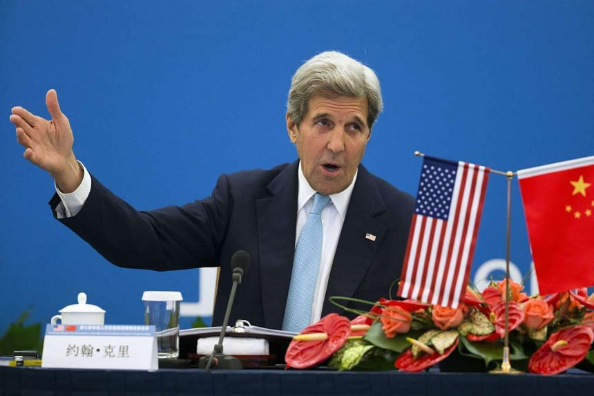 US Secretary of State John Kerry speaks at the Plenary Session of the Annual US-China High-Level Consultation on People-to-People Exchange in Beijing, on June 7, 2016.