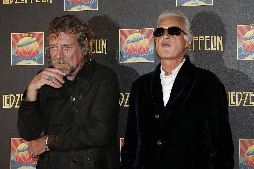 Led Zeppelin singer Robert Plant (left) and guitarist Jimmy Page are expected to attend trial.