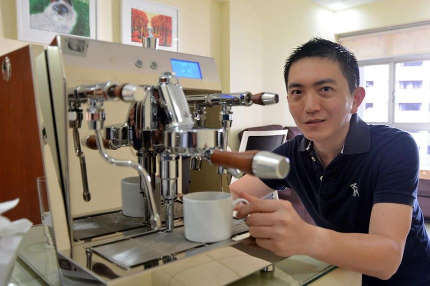 Mr Tan Chee Fui intends to try his hand at latte art at the Singapore Coffee Festival.