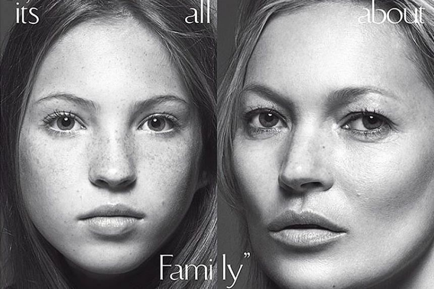 Kate Moss (right) and Lila Grace appear on the cover of Vogue.