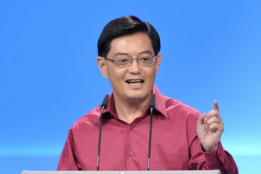 Mr Heng Swee Keat speaking at the National Day Rally on Aug 26, 2012.
