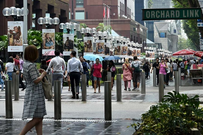 Vacancy rates at Orchard Road have gone up amid weakness in the local economy and a drop in spending by tourists.