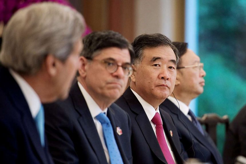 US Treasury Secretary Jack Lew (second from left) at an entrepreneur breakfast meeting at the US-China strategic and economic dialogues in Beijing, on June 7, 2016.