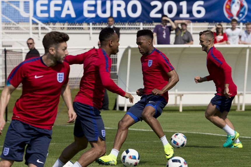 England's national football team players during a training session at Stade des Bourgognes in Chantilly, France, on June 7, 2016.