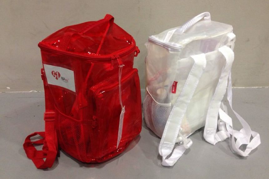 This year's funpacks feature translucent plastic skin and adjustable straps.