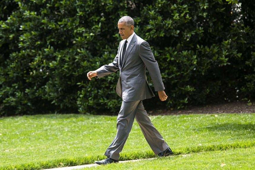 US President Barack Obama departs the White House for a weekend trip to Florida last Friday (June 3, 2016).