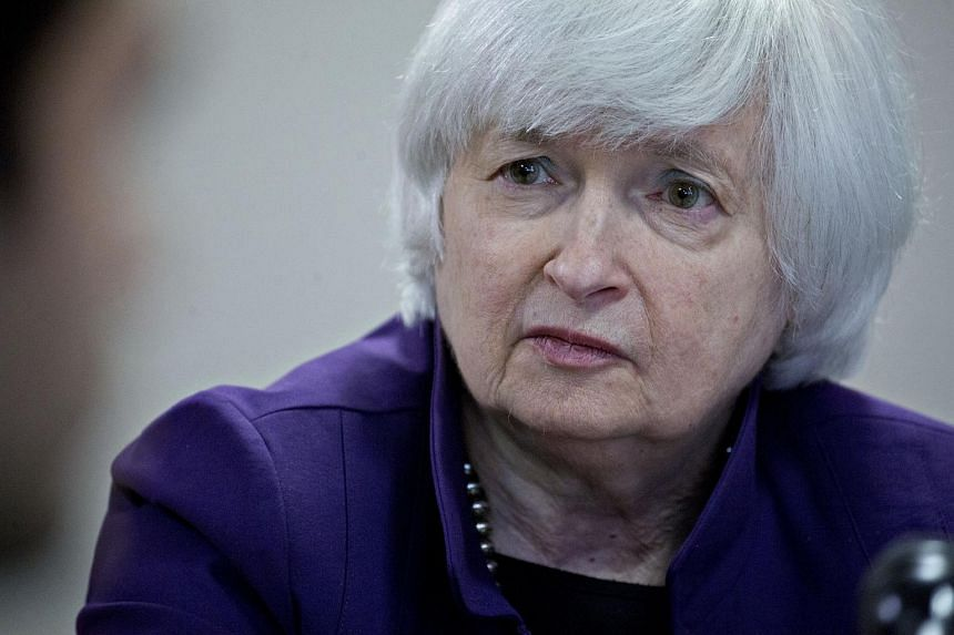 Federal Reserve chairman Janet Yellen at a roundtable discussion for a skills initiative workforce development programme in Philadelphia, Pennsylvania.