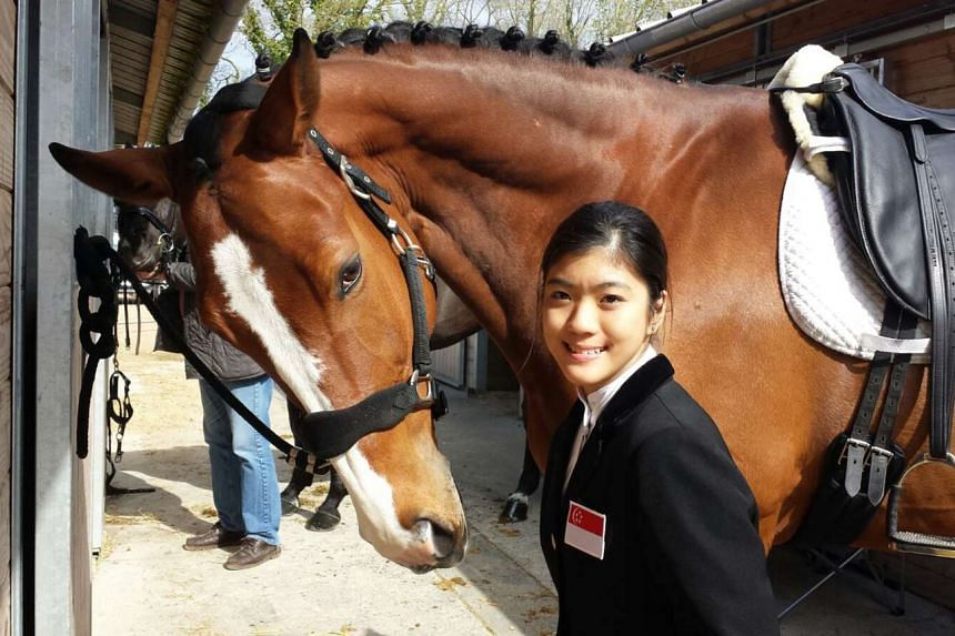Ms Gemma Foo with her horse Cassis Royal, specially trained to suit her needs.
