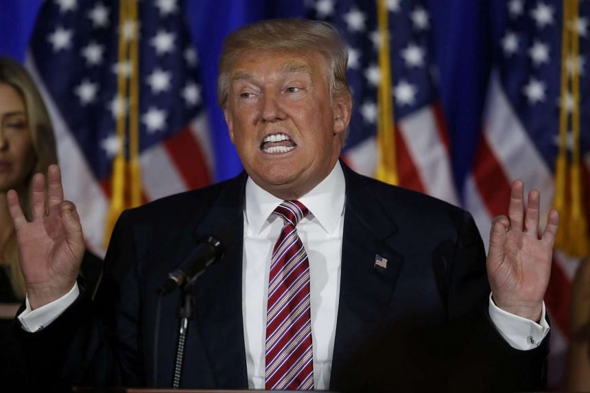 Donald Trump speaks at a campaign event at the Trump National Golf Club Westchester in Briarcliff Manor, New York on June 7, 2016.