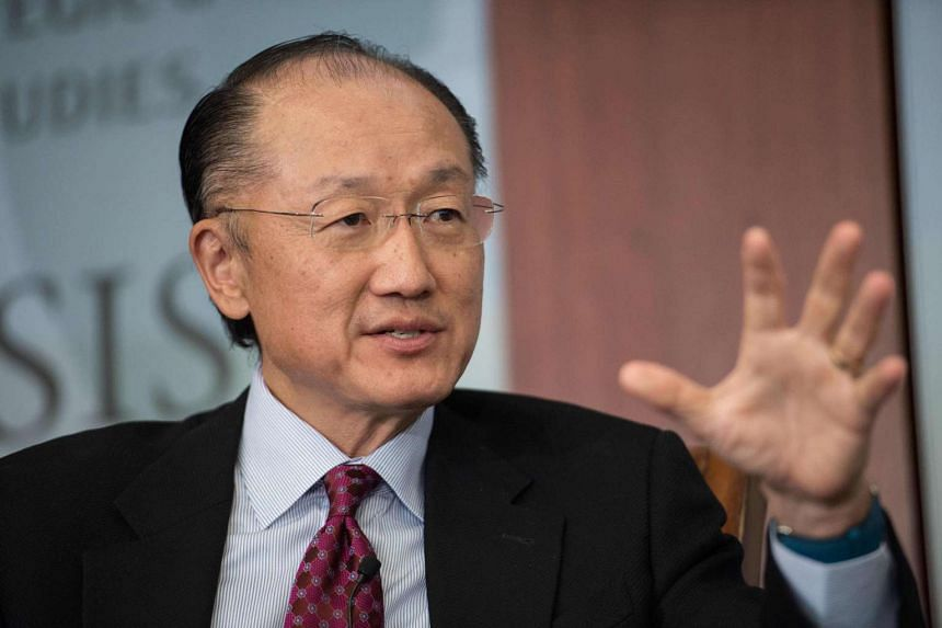 World Bank president Jim Yong Kim speaks during a conversation entitled Preventing The Next Pandemic at the Center for International and Strategic Studies in Washington,DC, on June 2, 2016.