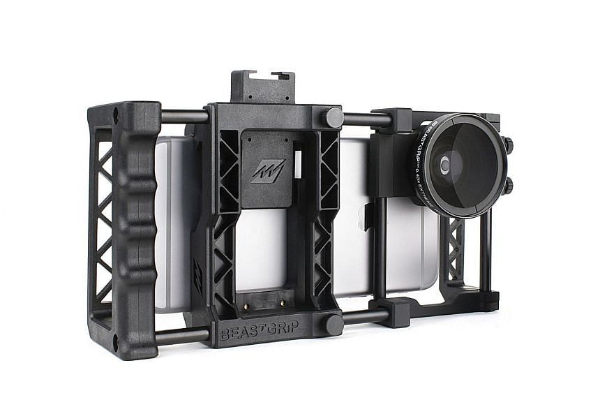 BeastGrip Pro, a universal lens adapter and camera rig system for smartphones.