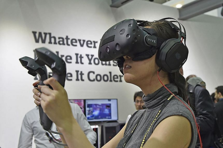 A VR headset linked to a backpack computer allows the gamer to move about freely without being tethered to a desktop PC.