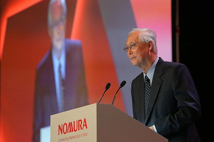Mr Goh told the Nomura Investment Forum yesterday that the continued growth and prosperity of Asia is dependent on harmonious, open and inclusive cooperation in the region.