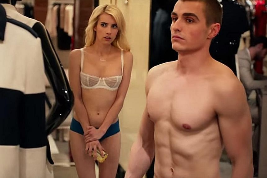 Emma Roberts (above left) and Dave Franco (above right).