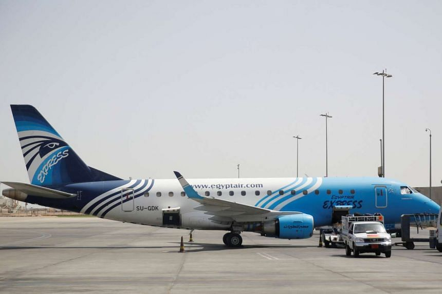An Egyptair plane undergoing servicing at Cairo International Airport on May 21, 2016.